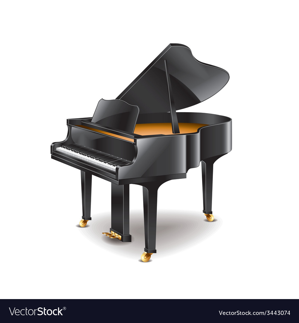 Piano isolated vector