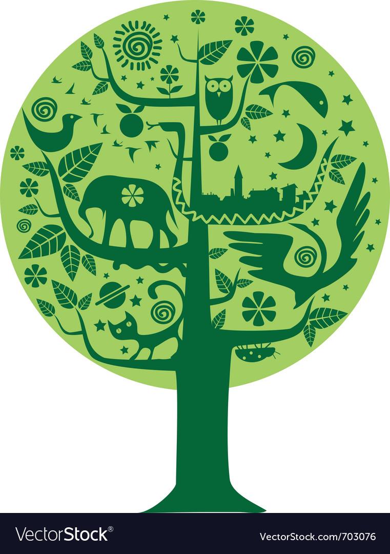 Nature tree vector