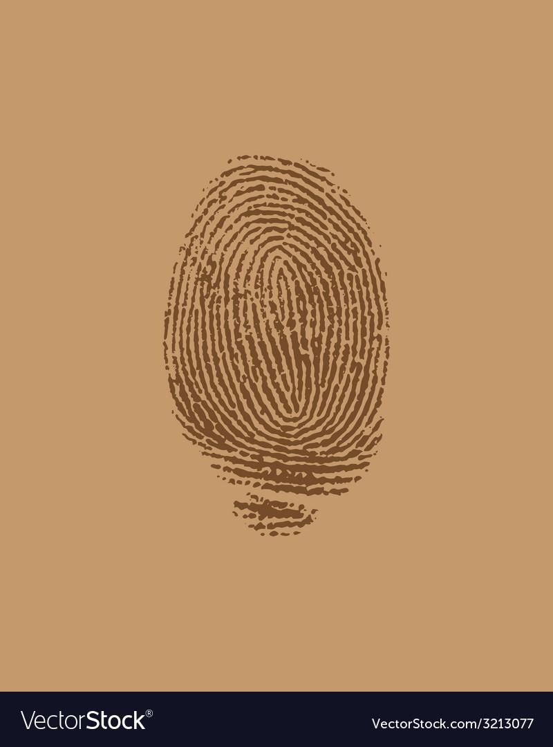 Finger brown vector