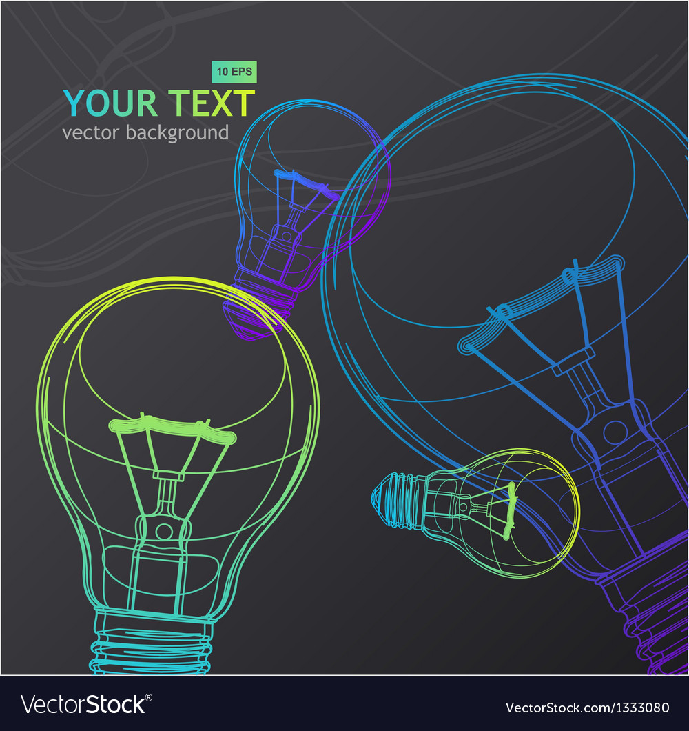 Light bulb background vector