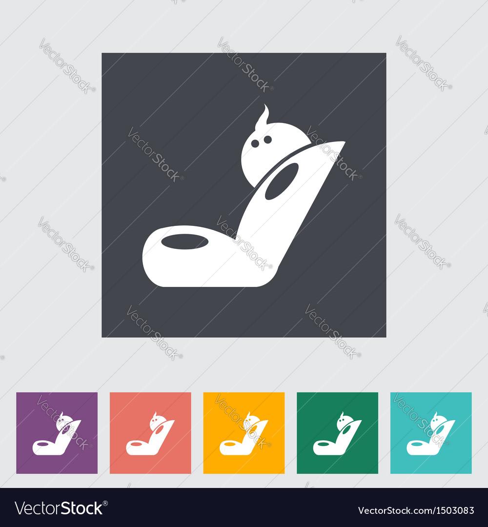 Child car seat icon 2 vector