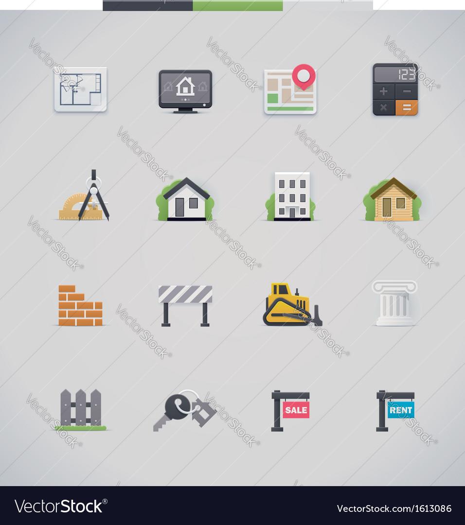 Architecture icon set vector