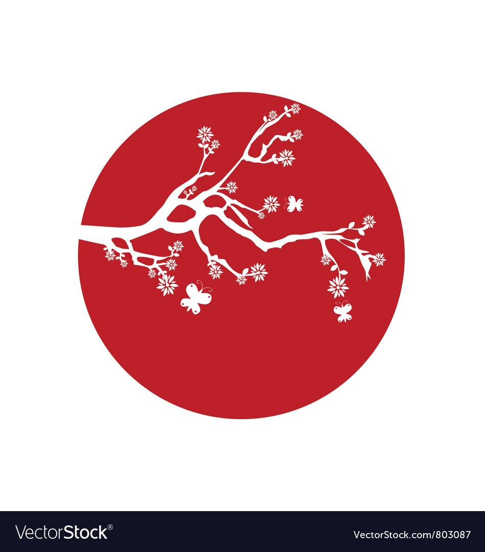 Japanese flag vector