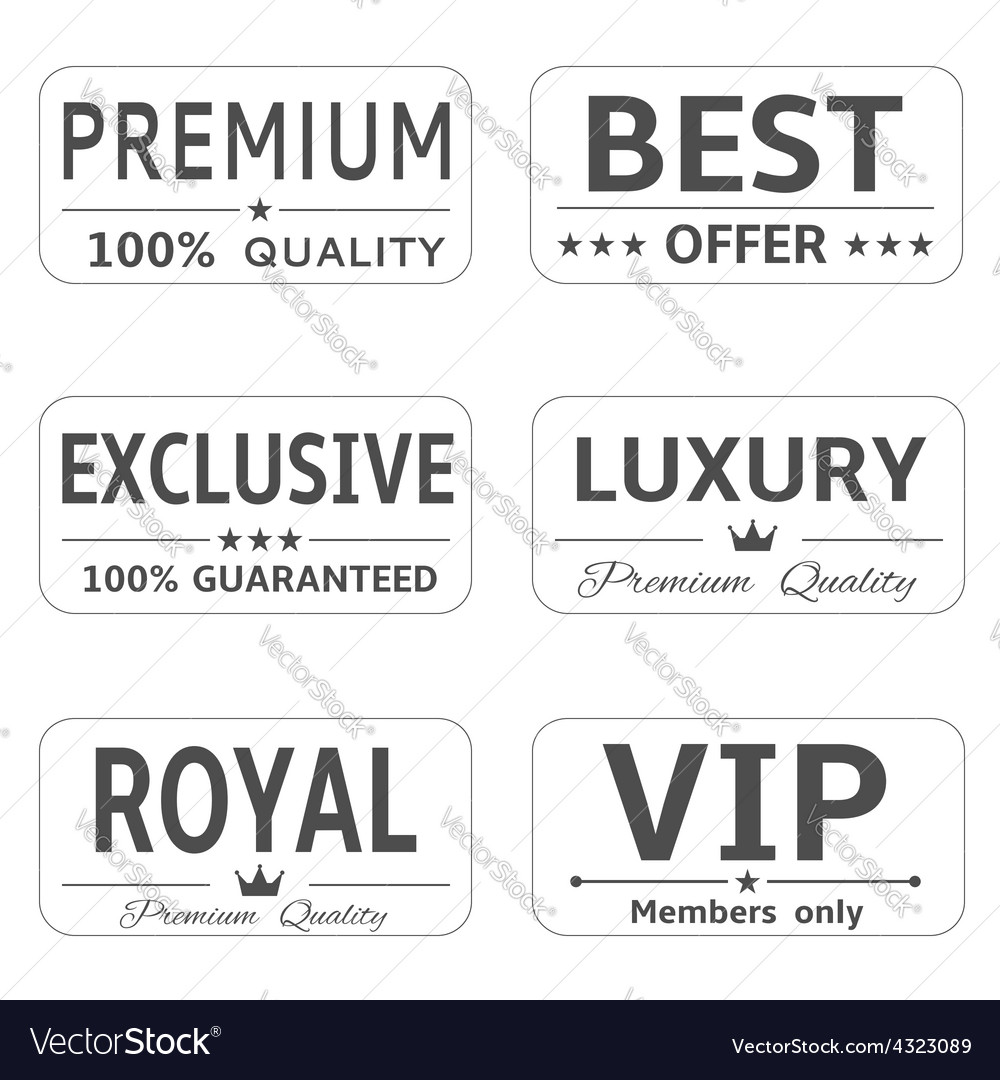 Minimalistic luxury labels vector