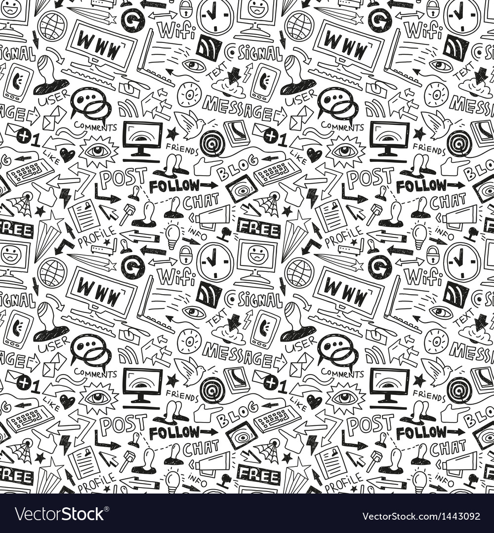 Web - seamless background vector