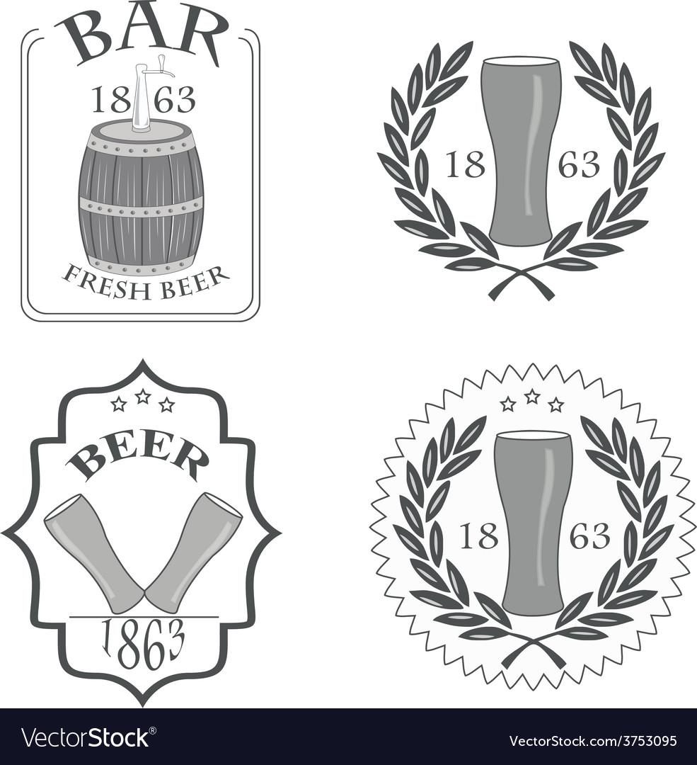 Beer fresh vector