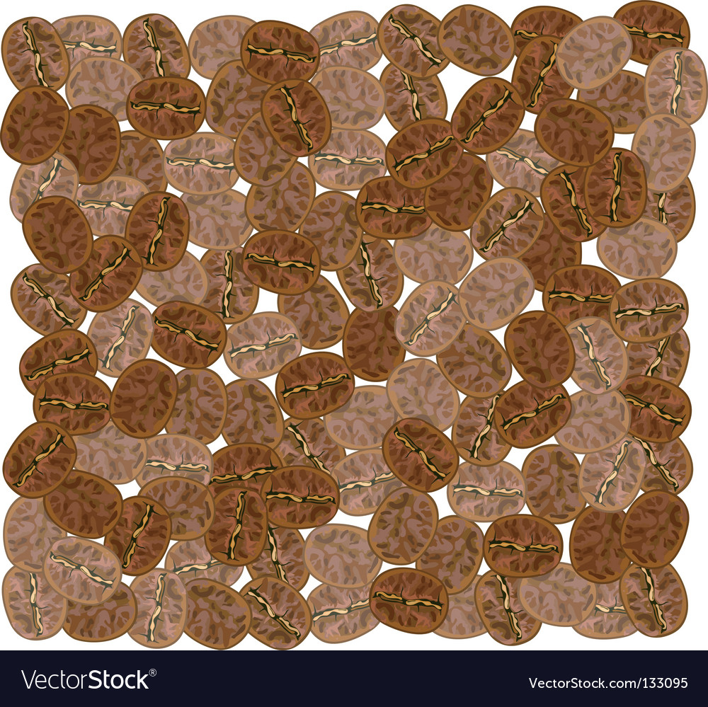 Coffee grains vector