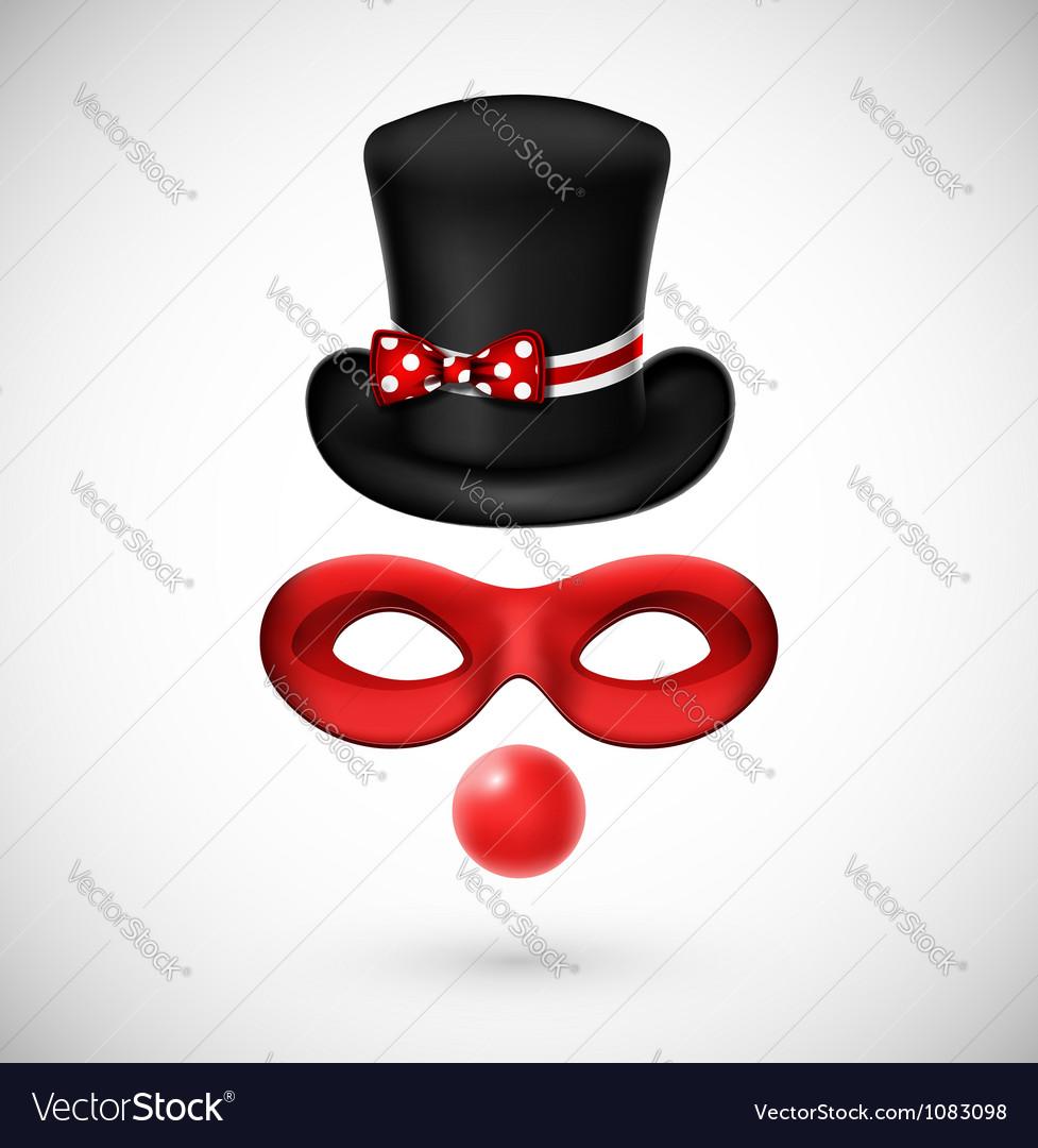 Accessories a clown vector