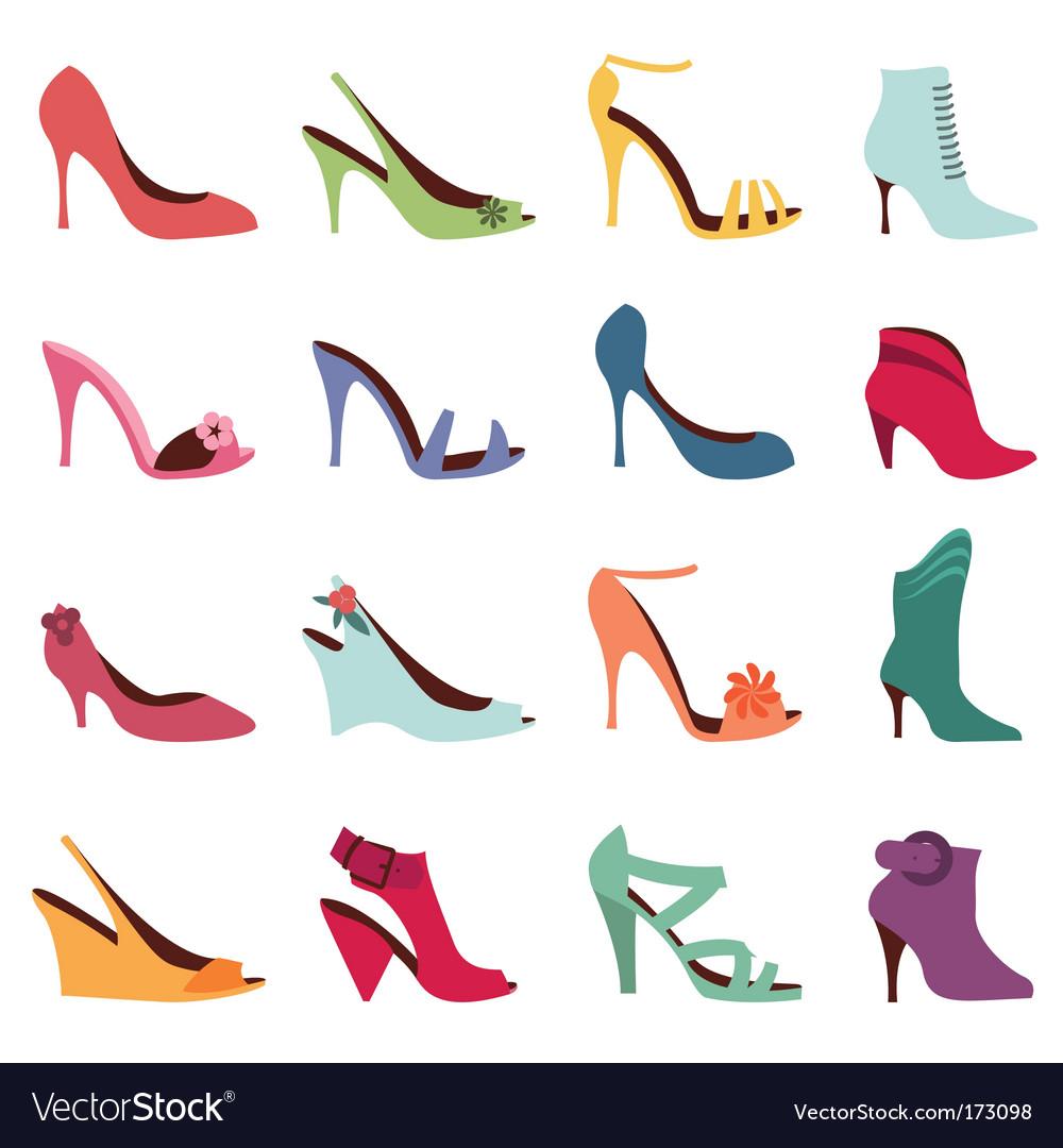Fashion women shoes vector