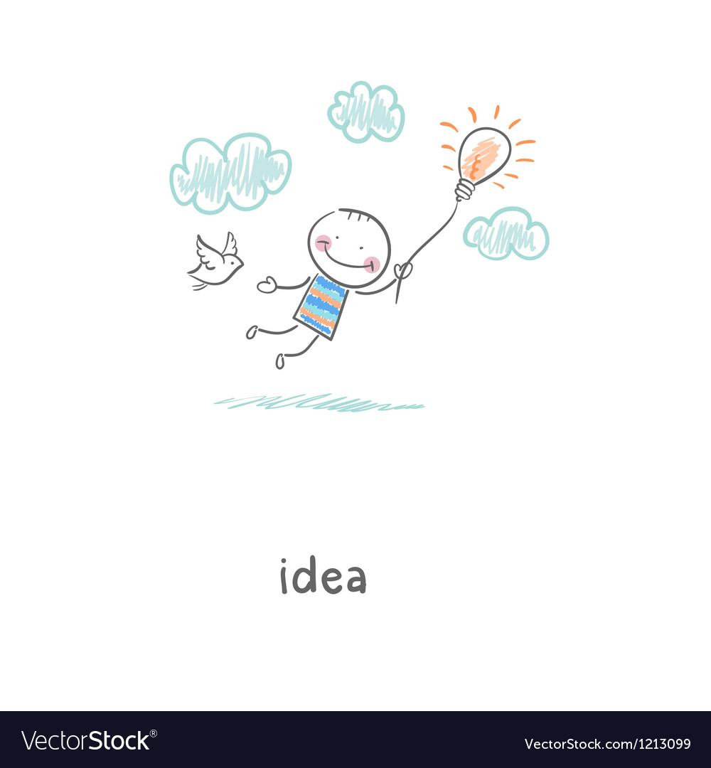 Flight of ideas vector