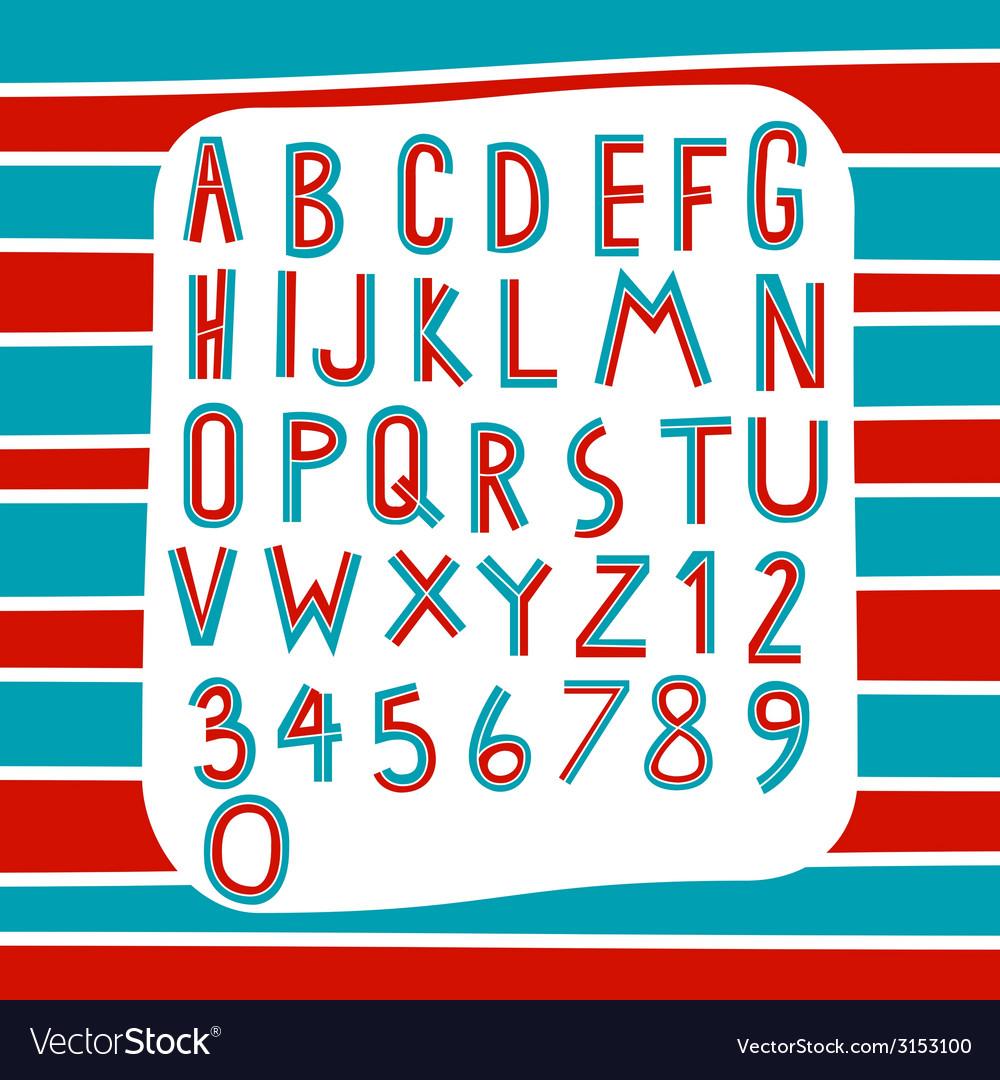Two tone alphabet vector