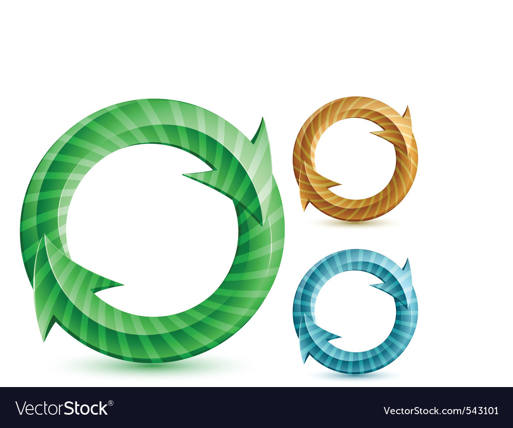 Stripped circular arrows vector