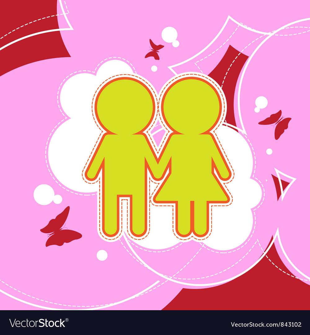 Couple background design vector