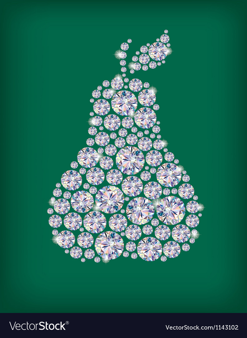 Diamond pear vector