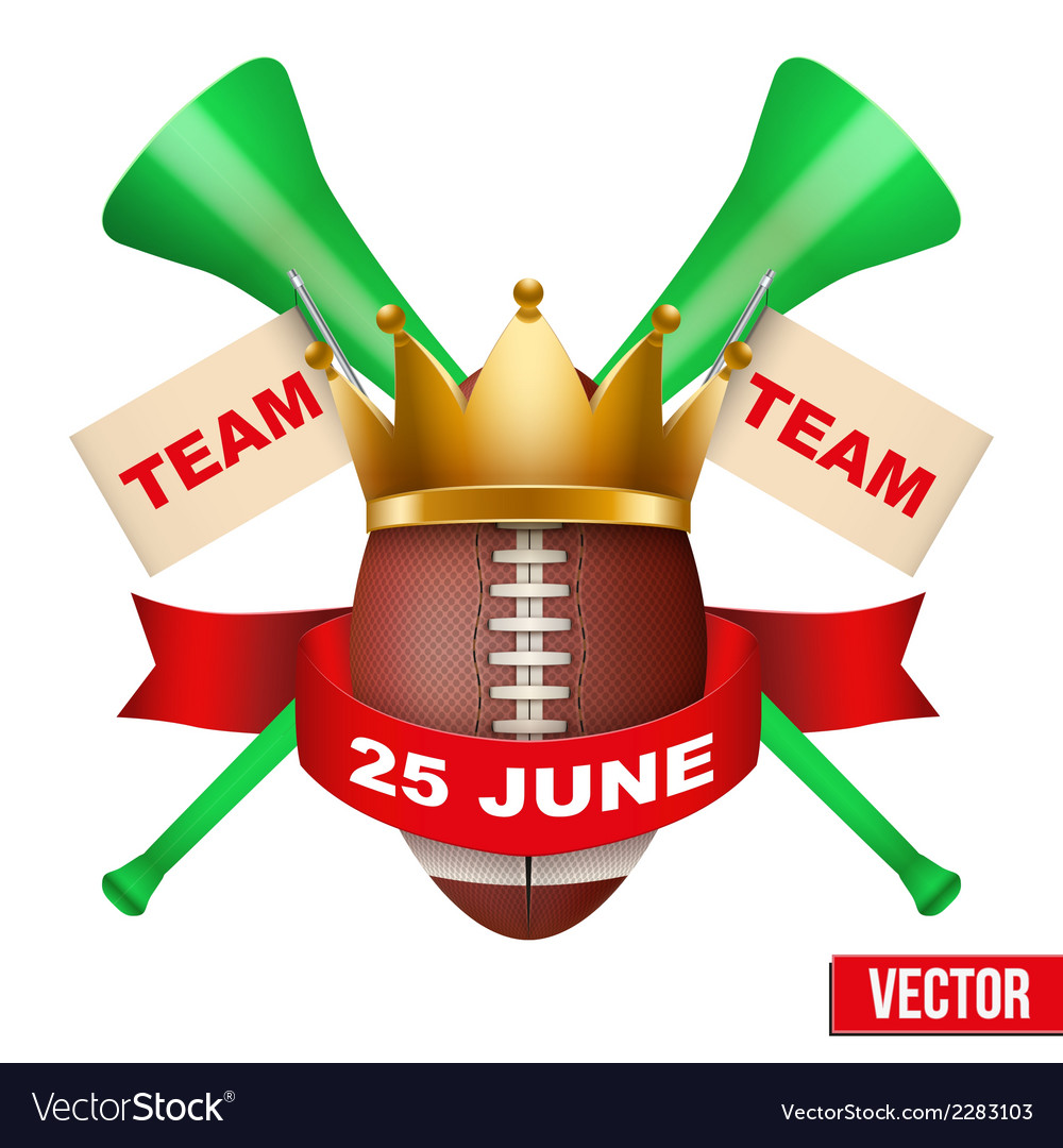 Announcement sporting poster with football ball vector