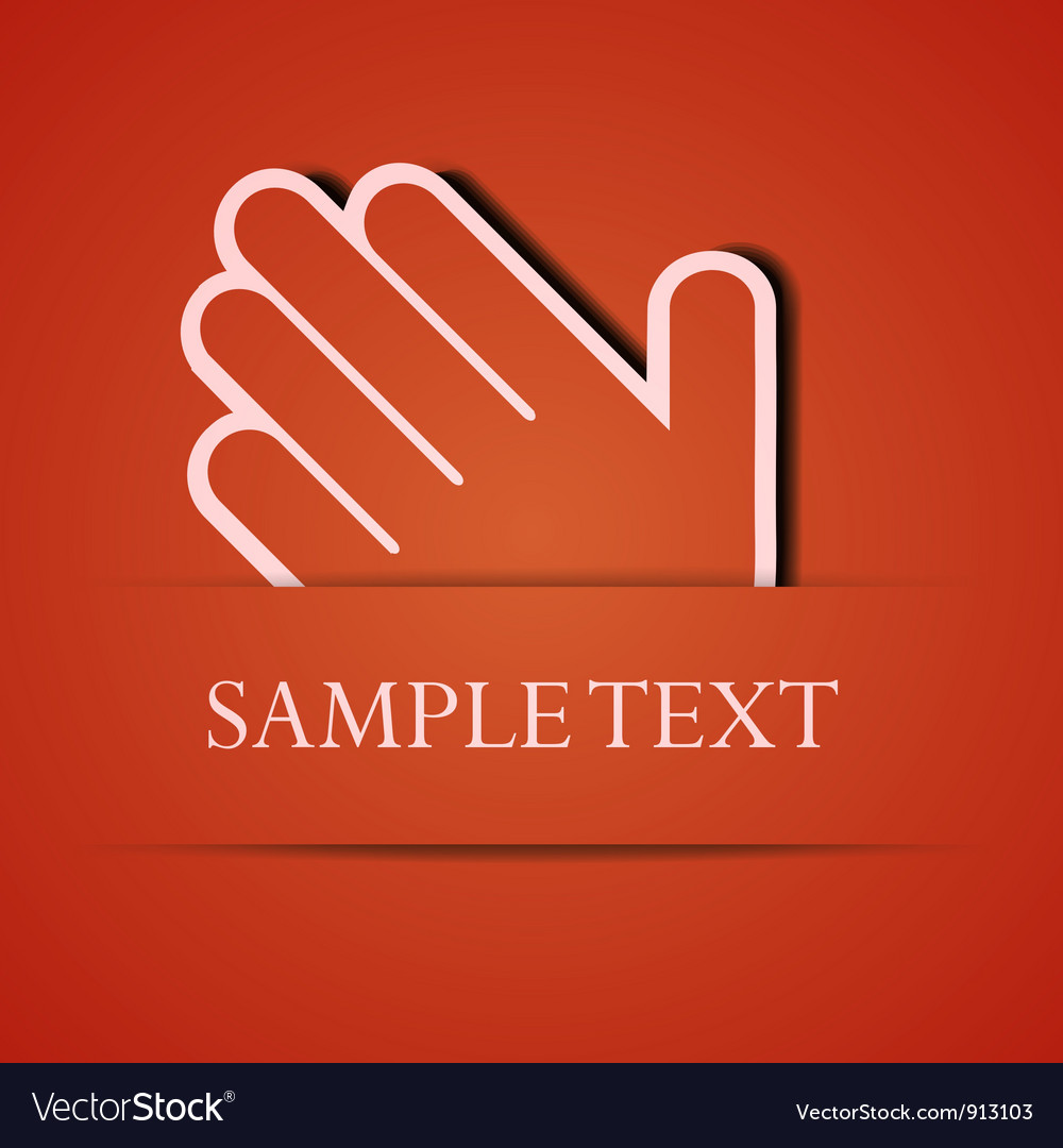 Hand background vector