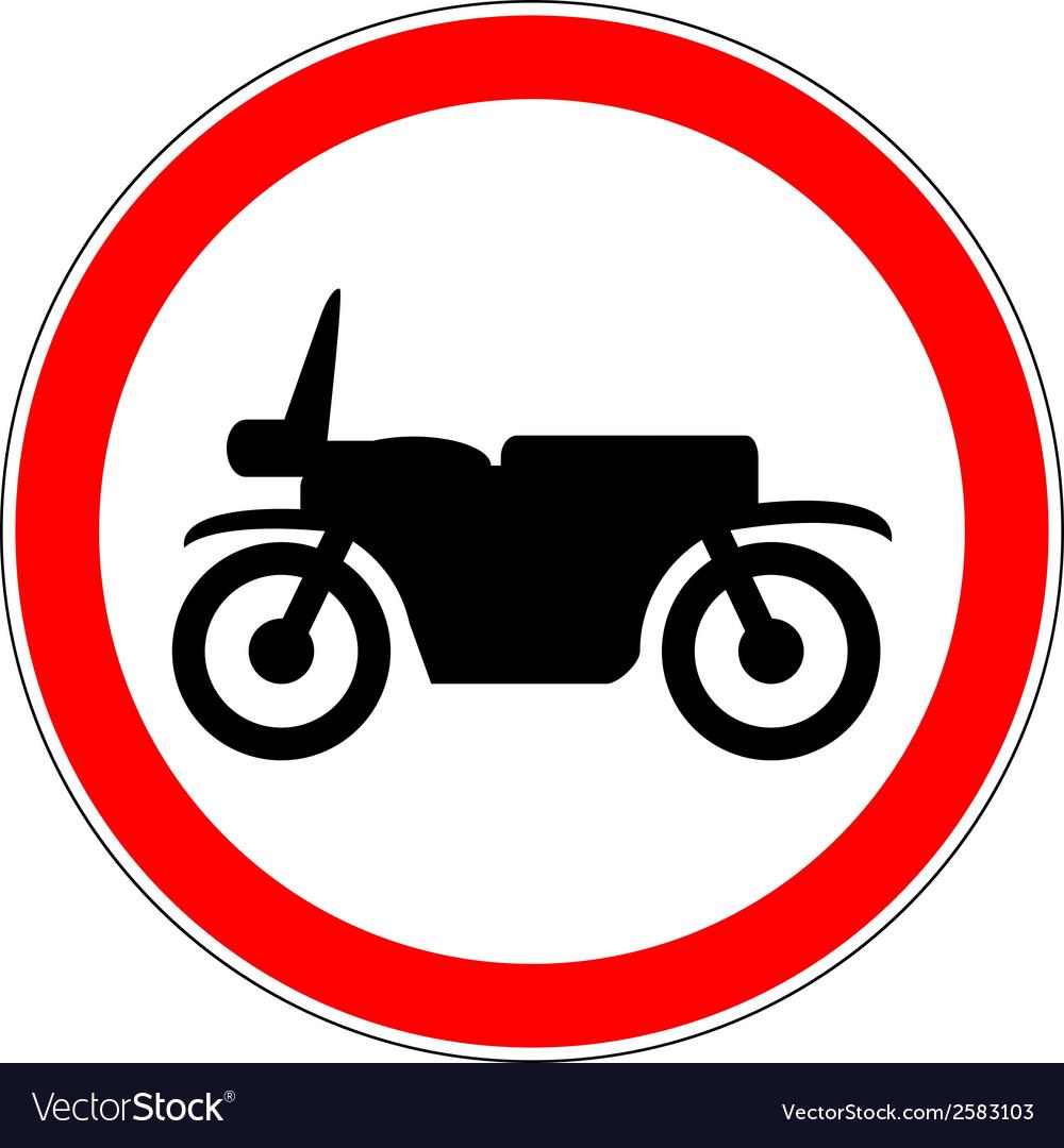 No motorcycle road sign vector