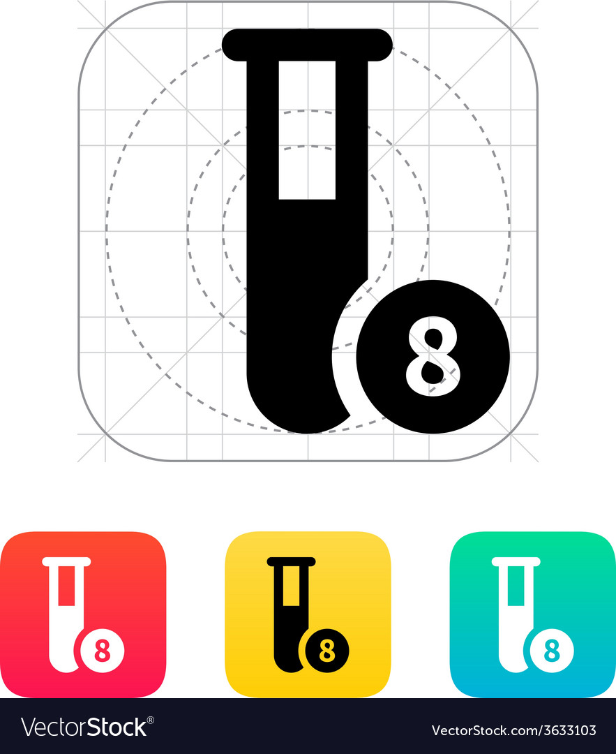 Test tube with number icon vector