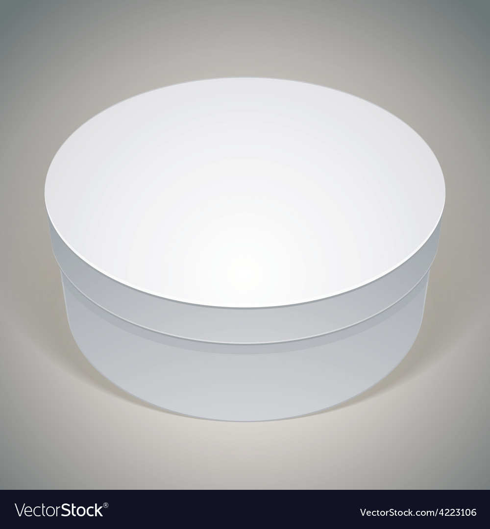 Blank round box template for your package design vector