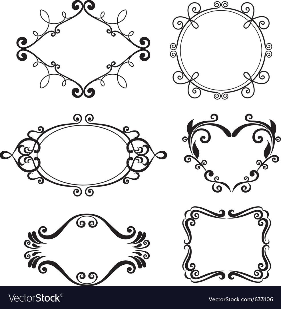 Floral pattern border vector
