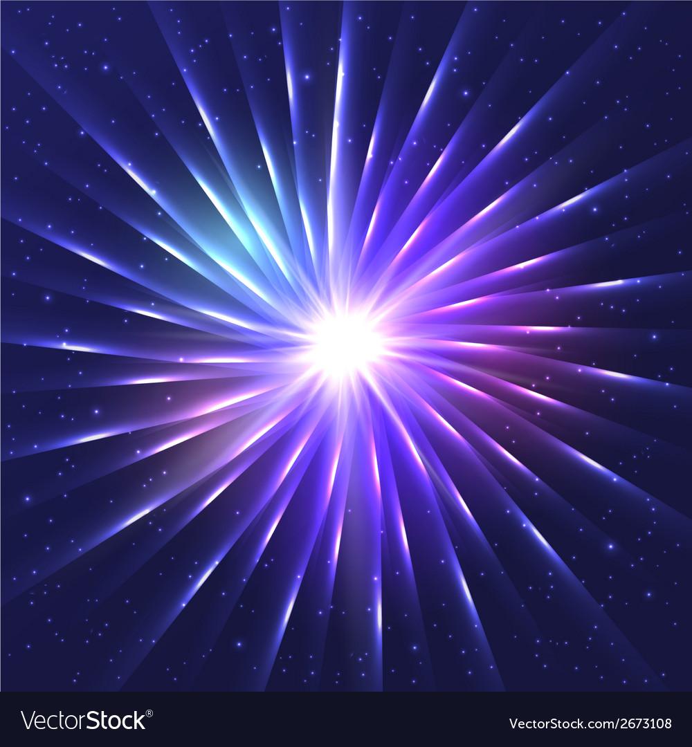 Abstract neon shining star vector