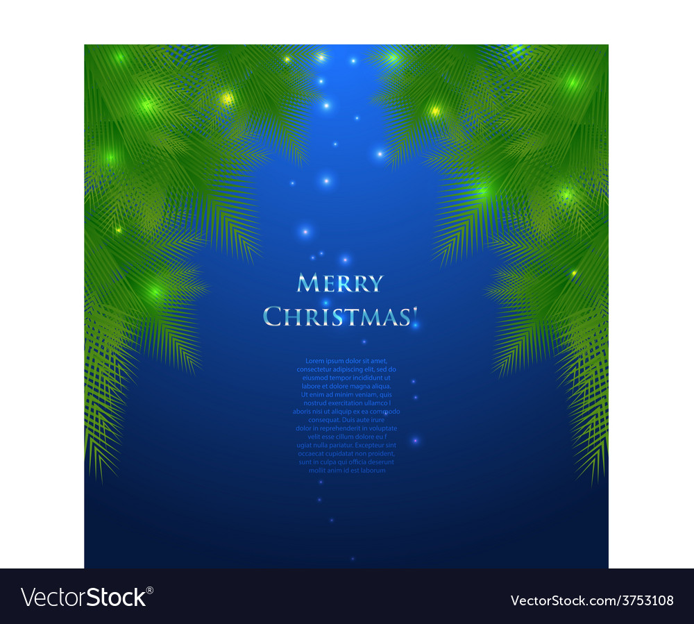 Festive christmas card with branches vector