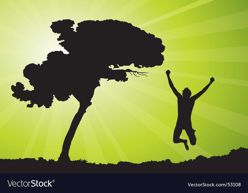 Man jumping illustration vector