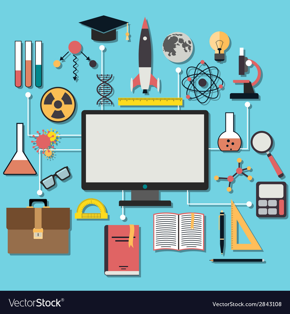 Science flat concept vector