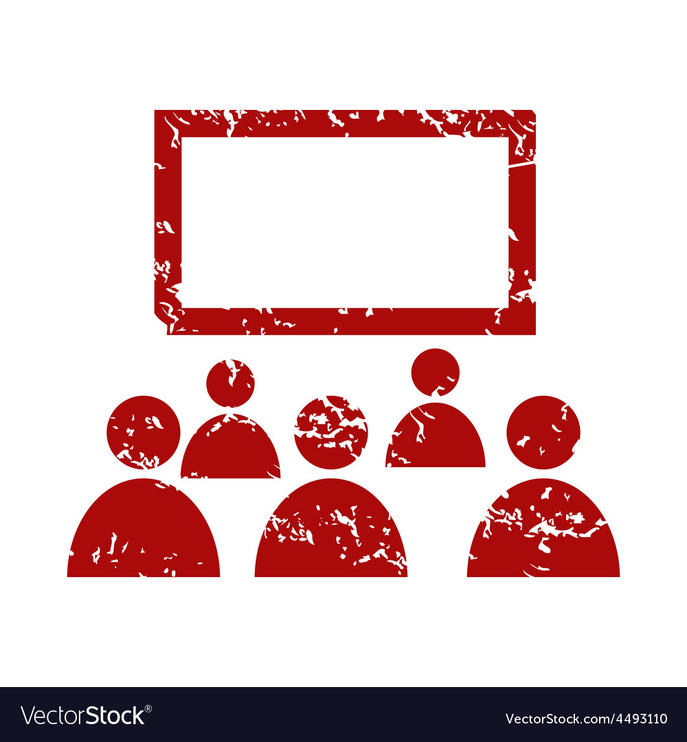 Red grunge theater logo vector