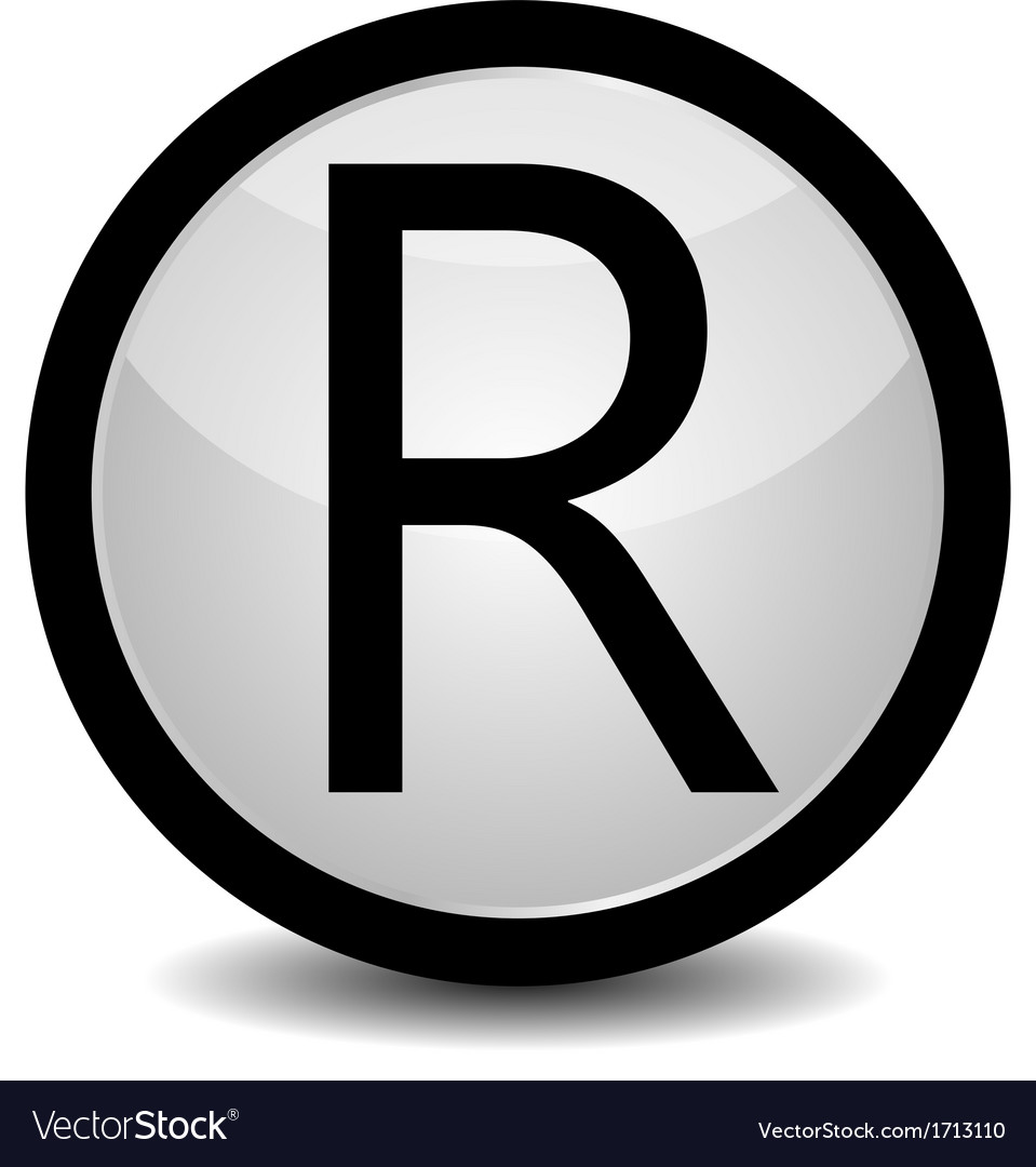 Registered trademark - icon vector