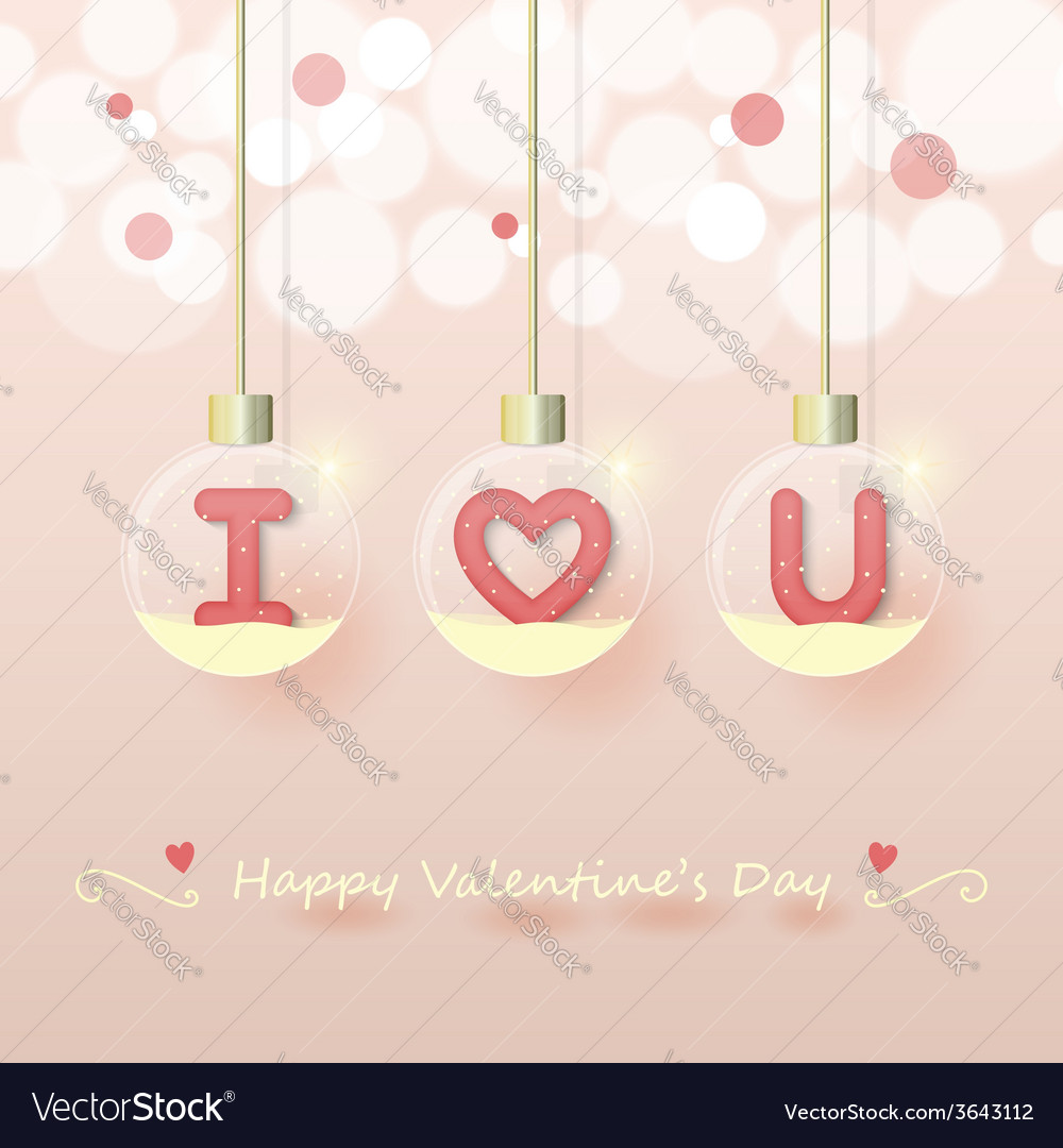 Love valentines day background vector