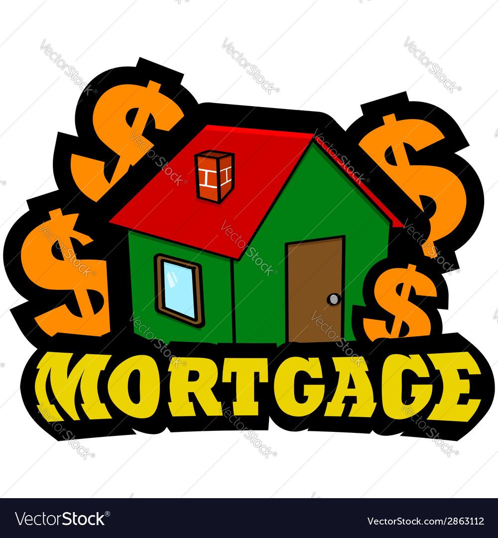 Mortgage icon vector