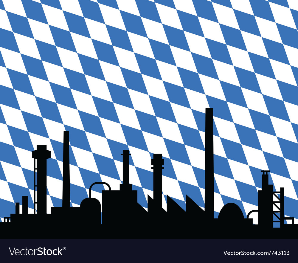 Industry and flag of bavaria vector