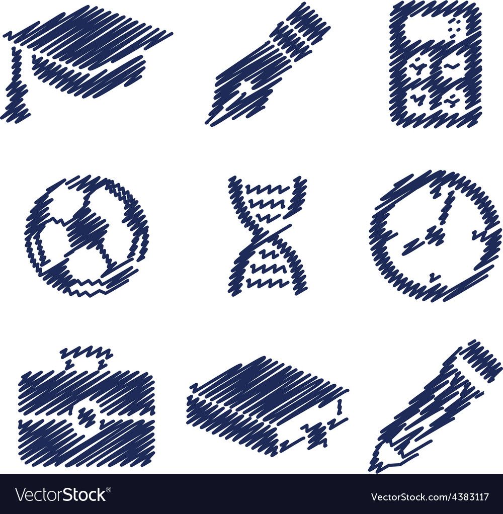 Handwriting education pictures vector