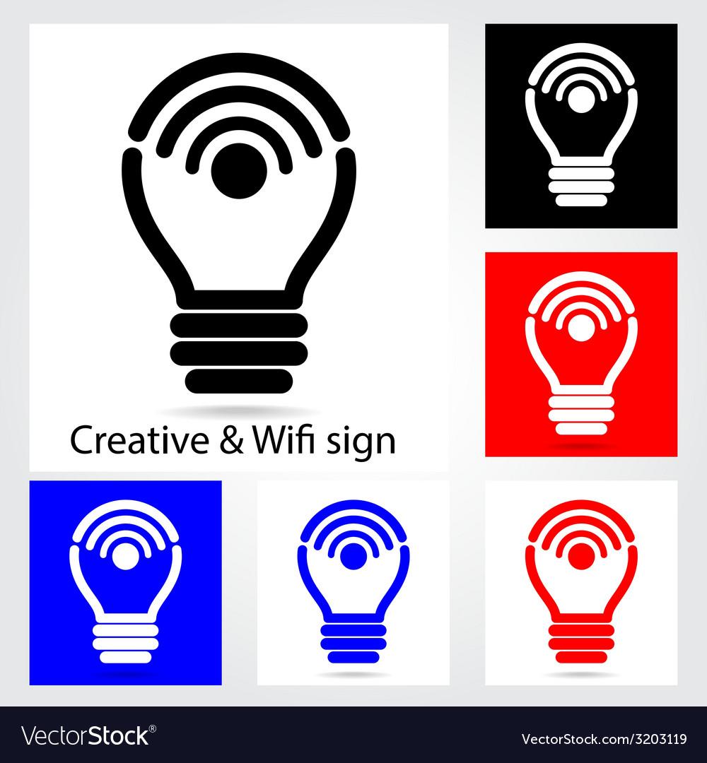 Set of creative light bulb vector