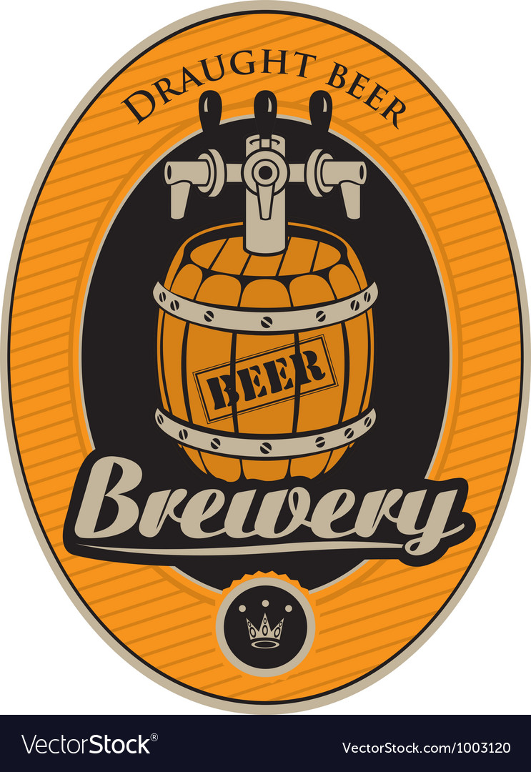 Barrel label vector