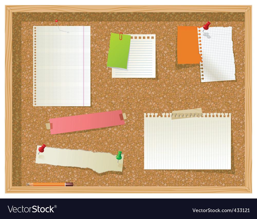 Office noticeboard vector