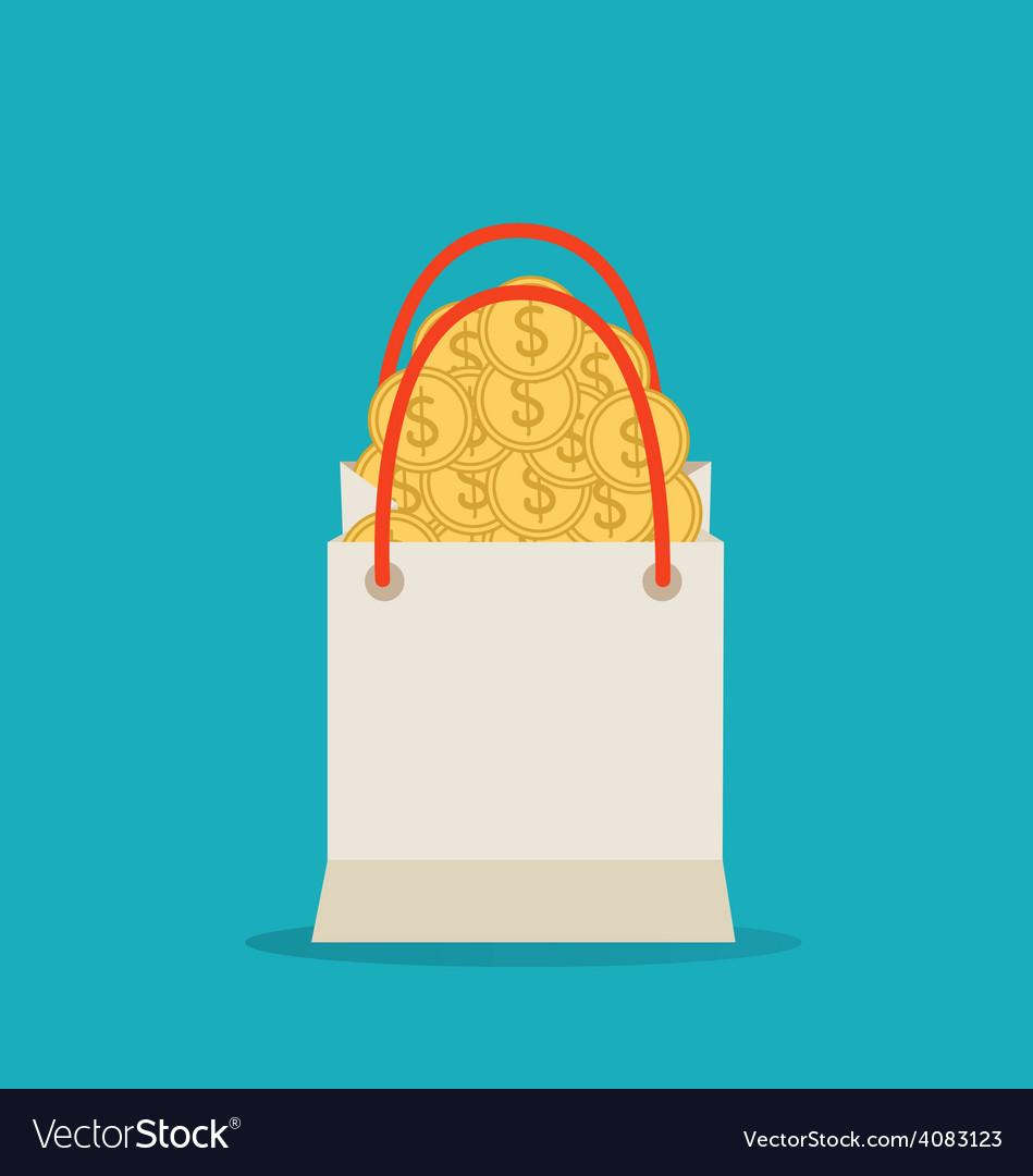 Money in the bag vector
