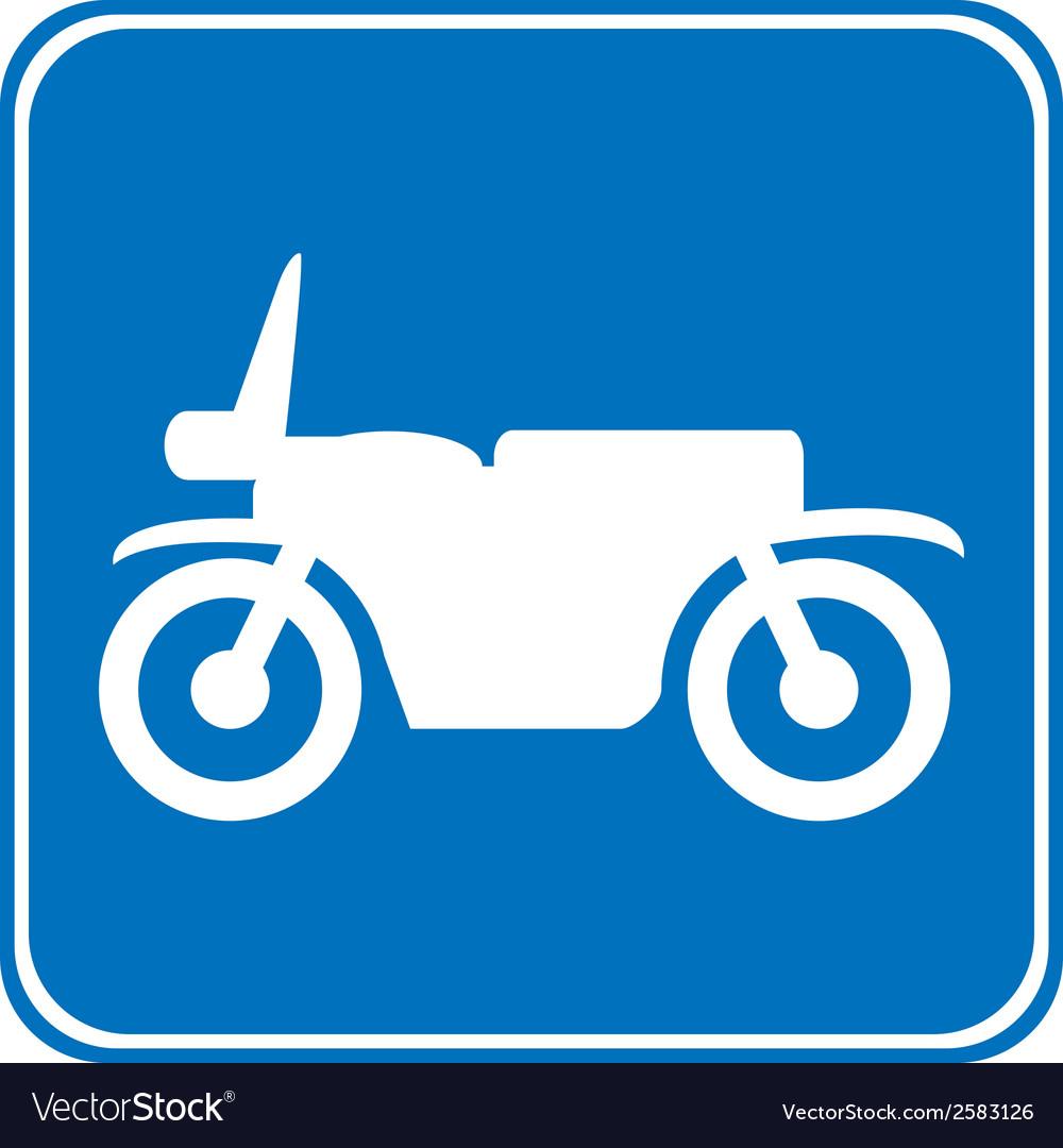 Motorcycle button vector