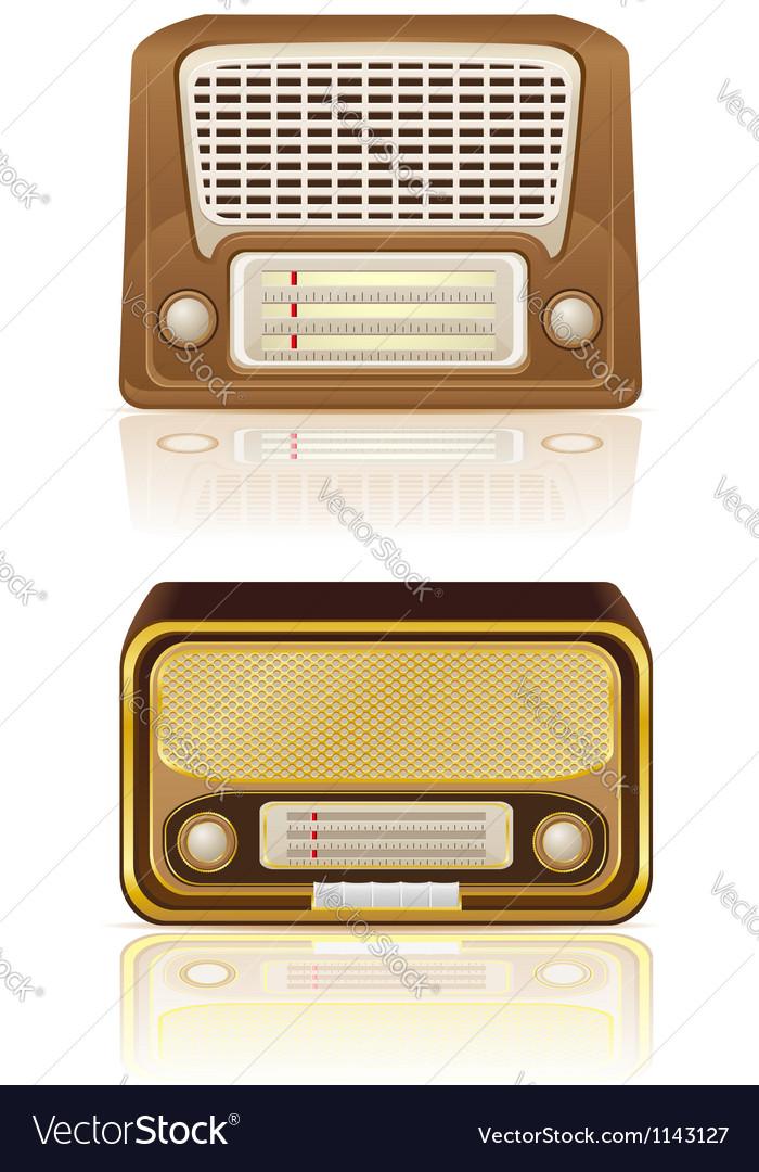 Retro radio 03 vector