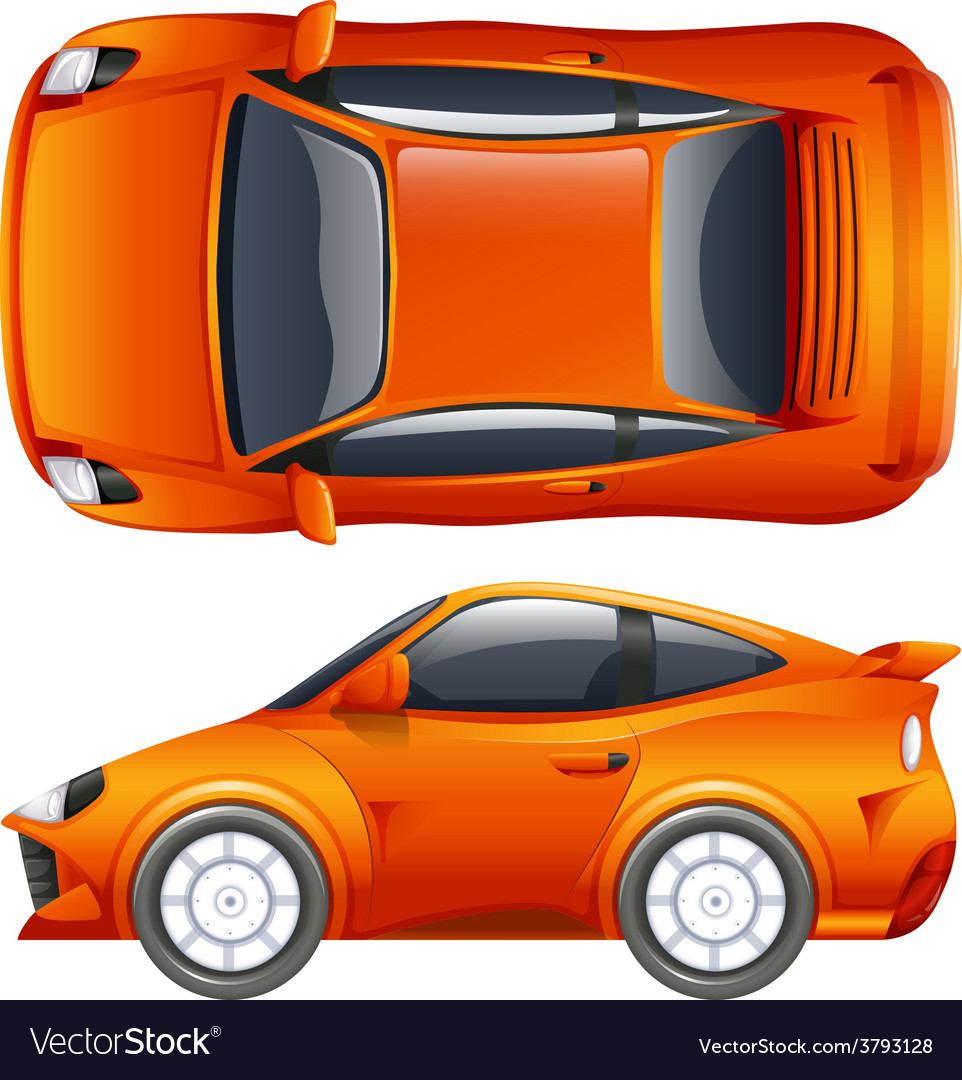 An orange vehicle vector