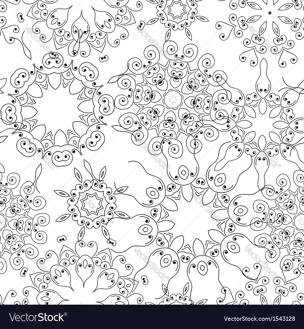 Vintage seamless pattern for your design vector