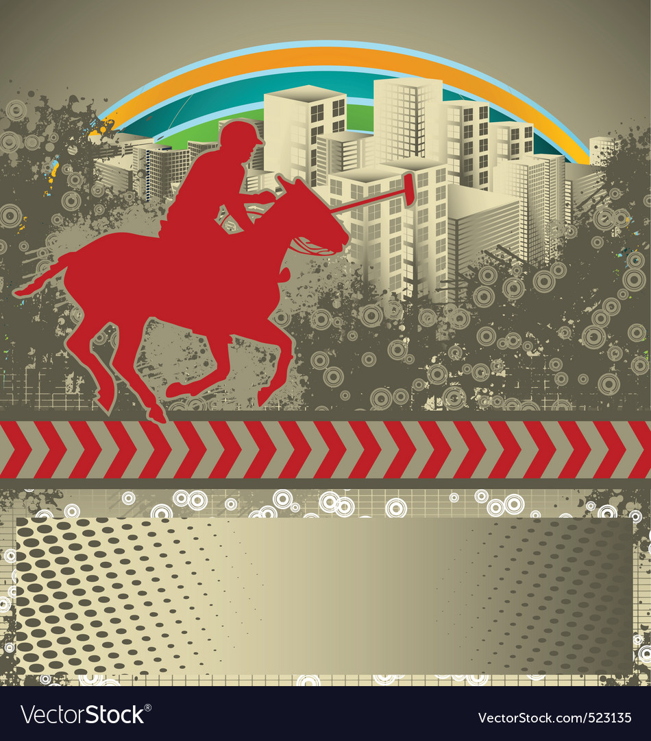 Polo grunge background vector