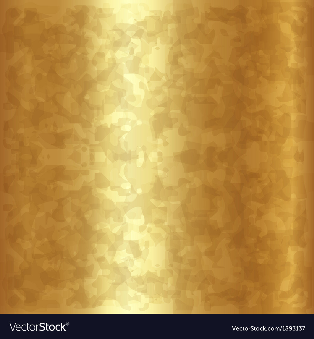 Abstract gold metallic background vector