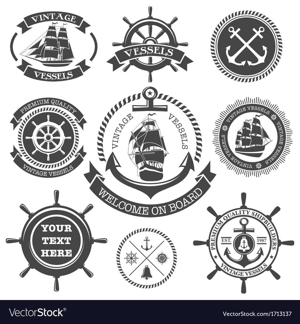 Nautical set 4 vector