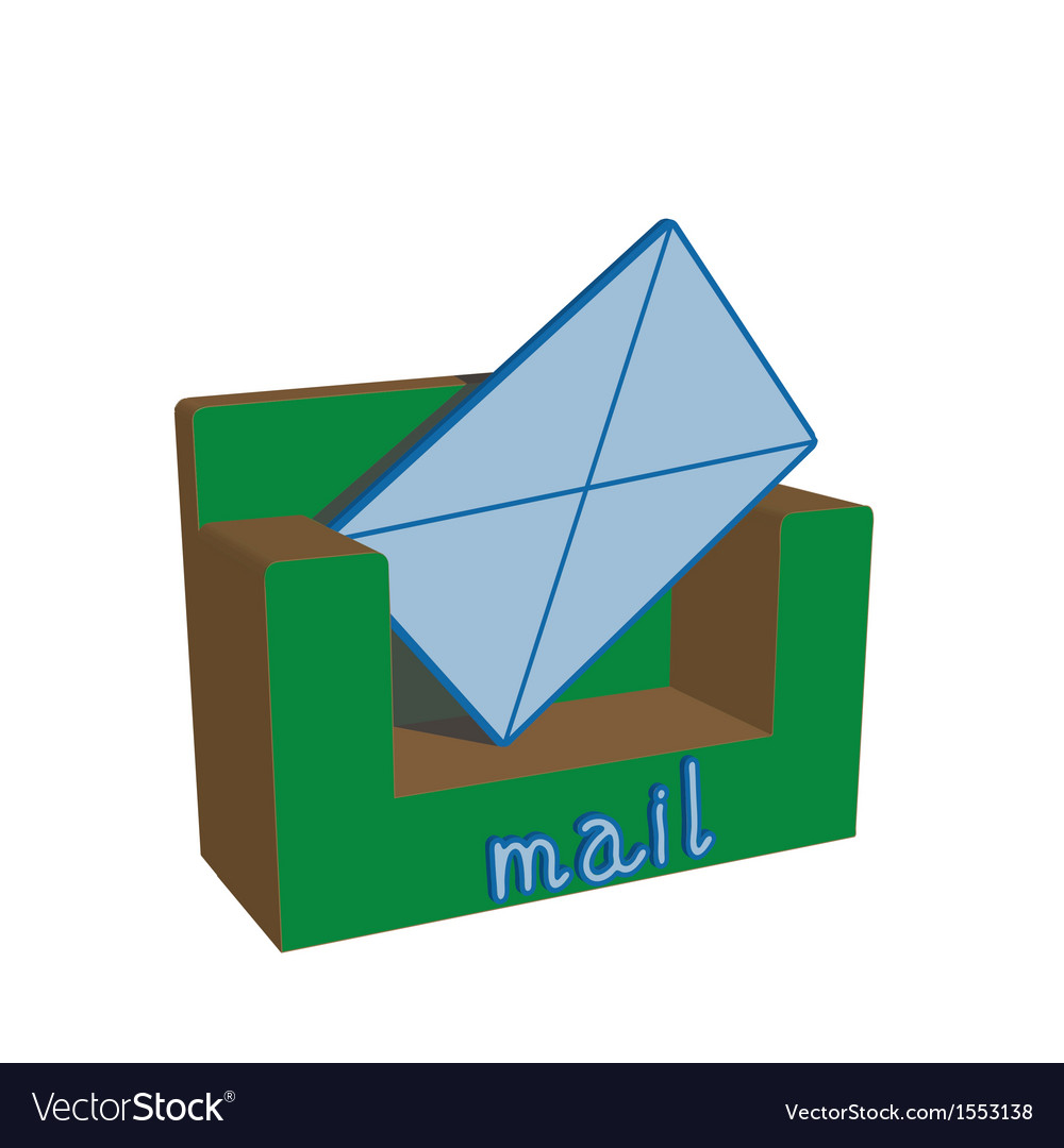 Surround the logo with the postal envelope vector
