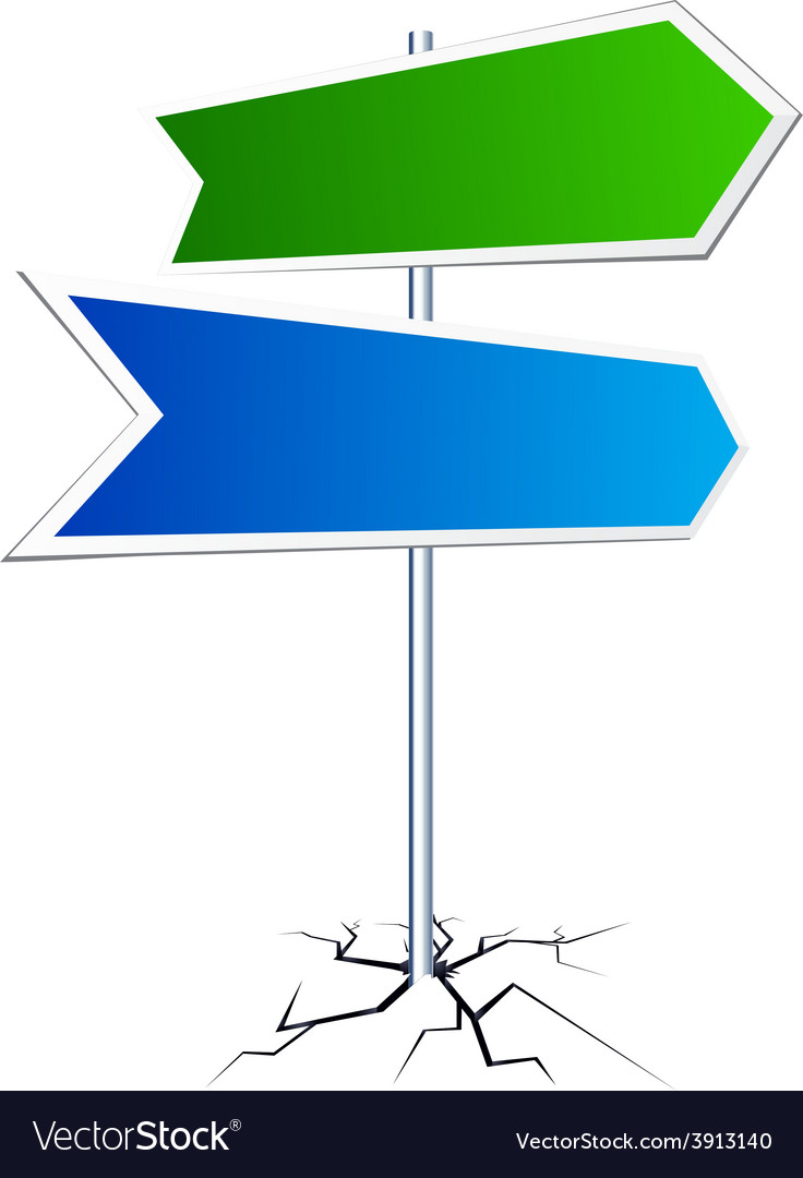 Empty direction sign vector