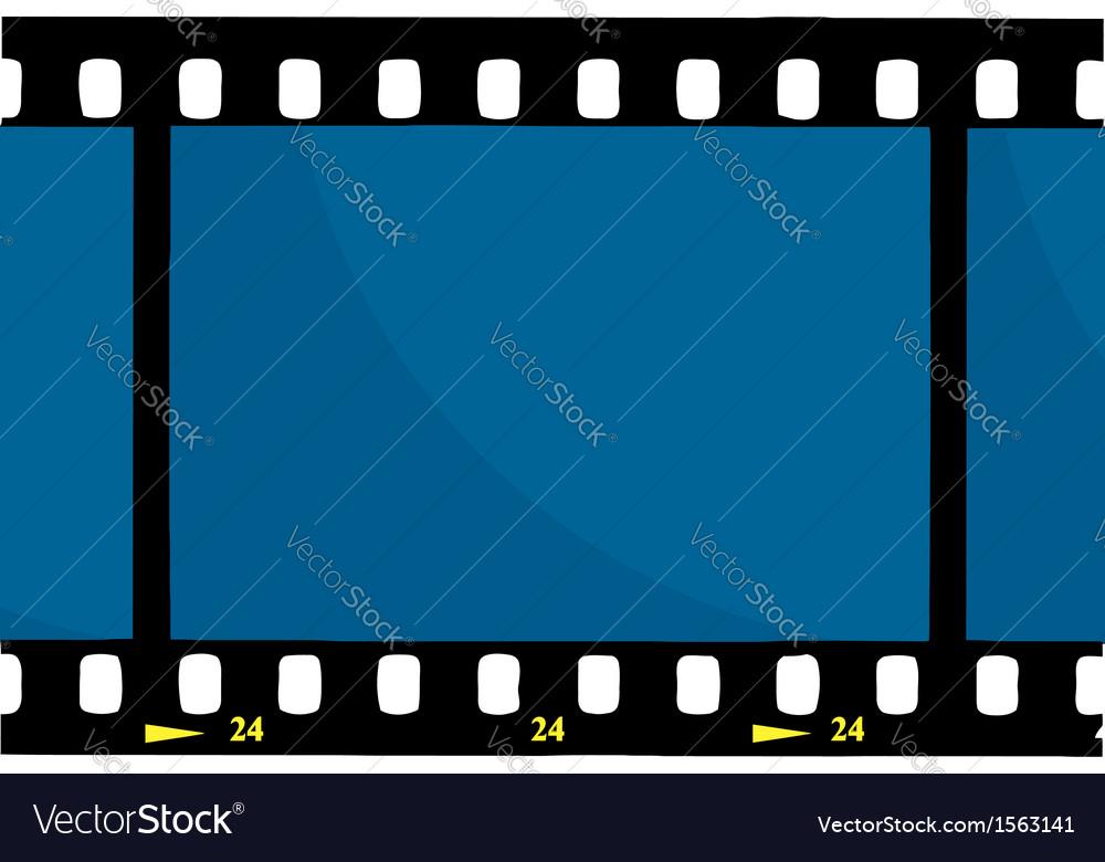 Cartoon film reel vector