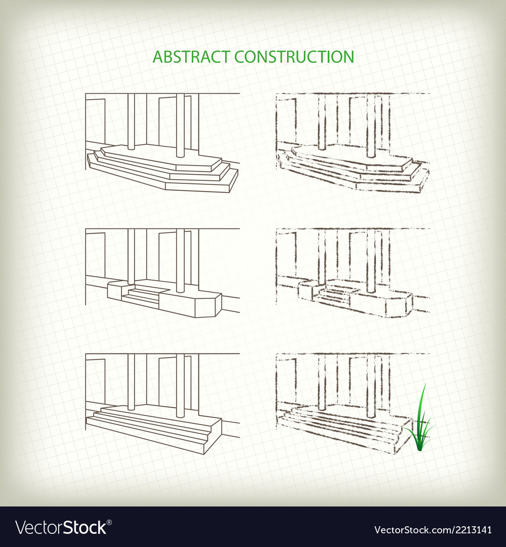 Scribble and sketch stoops vector