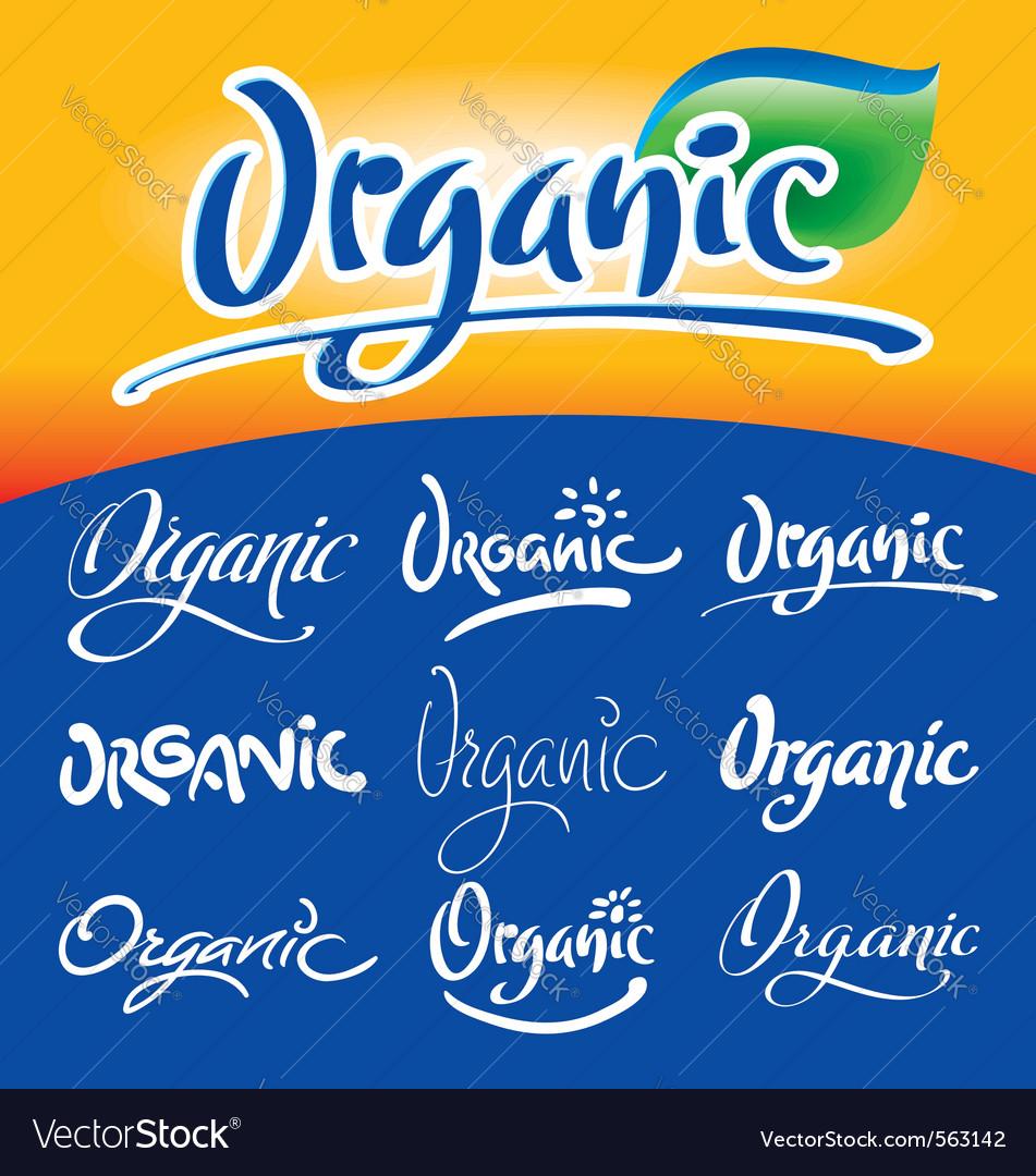 Organic hand lettering vector